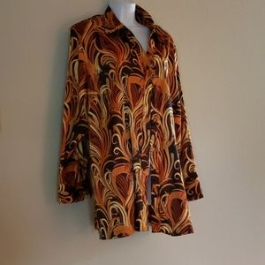 Size 2x 22/24  Polyester mix blouse